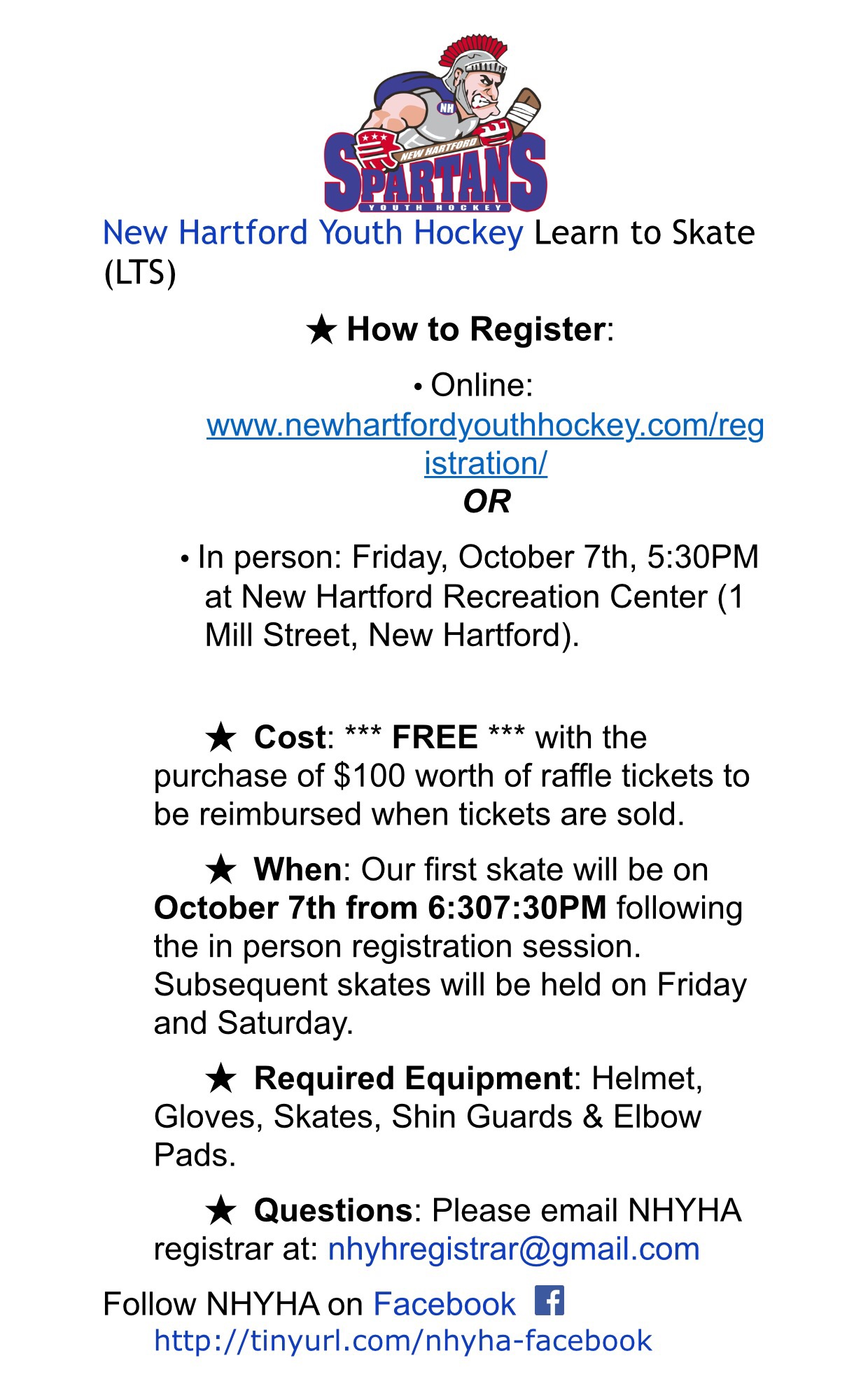 new hartford youth hockey 2016 2017 learn to skate